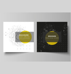 Layout two square format vector