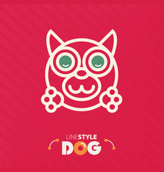 Line style dog vector
