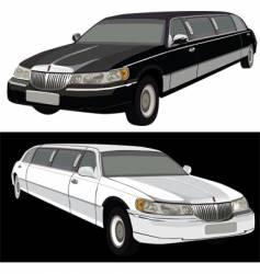Long limousine vector