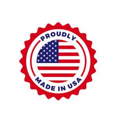 made in usa american quality flag seal icon vector image