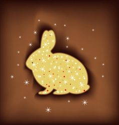 magic Easter rabbit vector image
