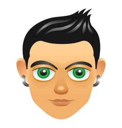 Male portrait avatar icon with boy face vector