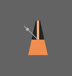 Metronome icon music equipment concept vector