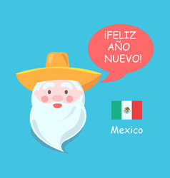 mexico and santa claus poster vector image
