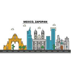mexico zapopan city skyline architecture vector image