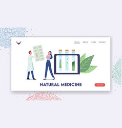 Natural medicine landing page template specialist vector