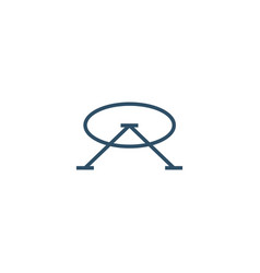 oa letter mark initial logo icon vector image