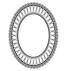Oval ornamental decorative frame vector