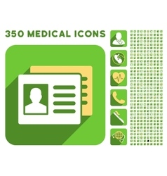 Patient Accounts Icon and Medical Longshadow Icon vector