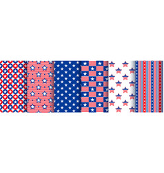 patriotic seamless patterns with stars vector image