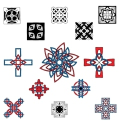 Pattern with a cross in the Celtic style vector