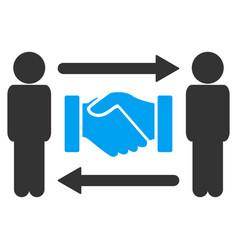 persons handshake exchange icon vector image