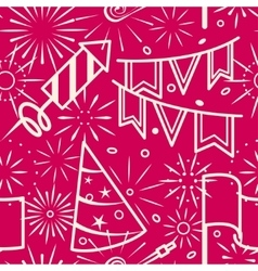 Pink party celebration seamless background vector image