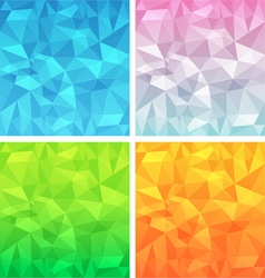Polygonal background set vector image