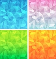 Polygonal background set vector image