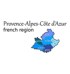 Provence-Alpes-Cote dAzur french region map vector