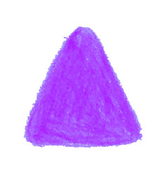 Purple crayon scribble texture stain triangle vector