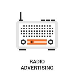 Radio advertising icon vector