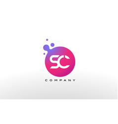 Sc letter dots logo design with creative trendy vector