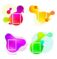 set of colorful elements gradient abstract vector image