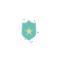 sheild icon design vector image