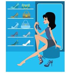 shop of female footwear vector image