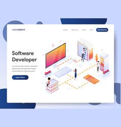 Software developer isometric concept vector