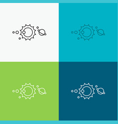 solar system universe solar system astronomy icon vector image