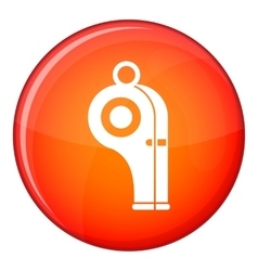 Sport whistle icon flat style vector image