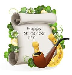 St Patricks Day placard vector