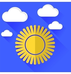 Sun Icon Isolated on Blue Sky Background vector image