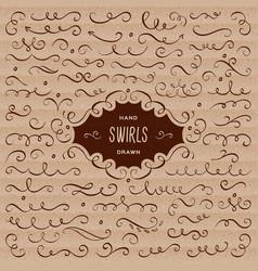 Swirls flourish collection calligraphic vector