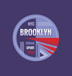 T-shirt badge - brooklyn new york city athletic vector