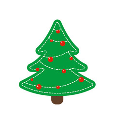 toy fir as decoration for christmas holidays vector image