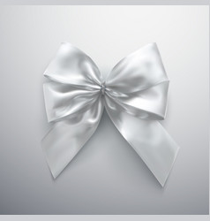 White bow and ribbons vector