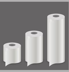 White paper roll set vector