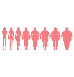 woman of different weight vector image