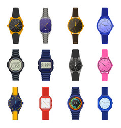 wrist watches classic female male watches vector image