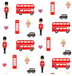 england symbols seamless pattern vector image