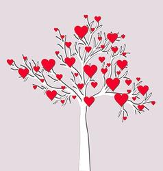 Love tree card vector image vector image