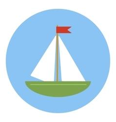 Sailing ship icon flat style vector image vector image