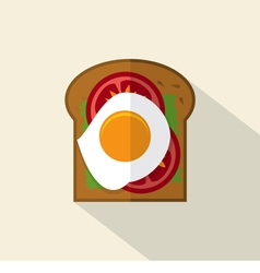 Top View Of Flat Design Sandwich vector image