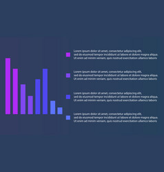 Business infographic with graphic and data vector