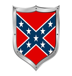 Confederate flag icon vector image