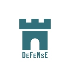 defense logotype with fortress icon vector image