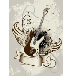 Guitar Wings vector image