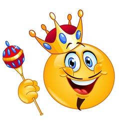 king emoticon vector image vector image