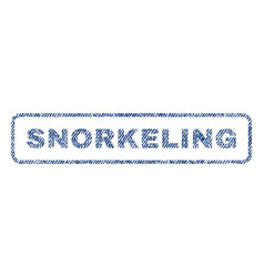 Snorkeling textile stamp vector
