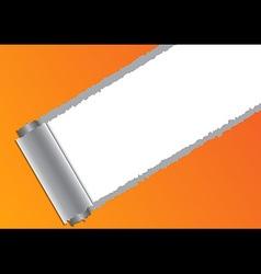 Torn paper orange vector image