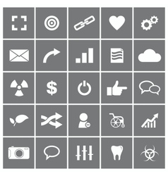Universal Flat Icons Set 4 vector image